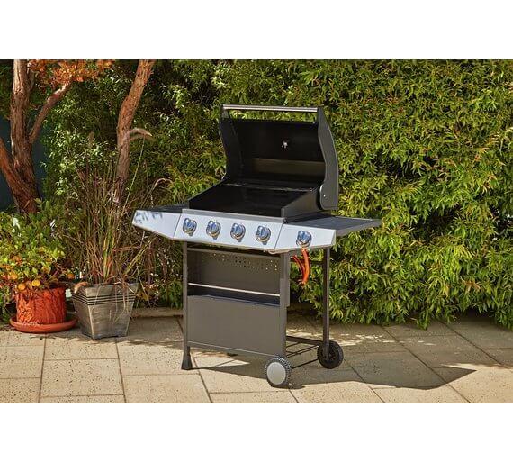 Premium 4 Burner Gas BBQ with Side Burner – Home Delivery