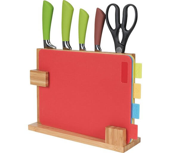 HOME 10 Piece Chopping Board and Knife Set