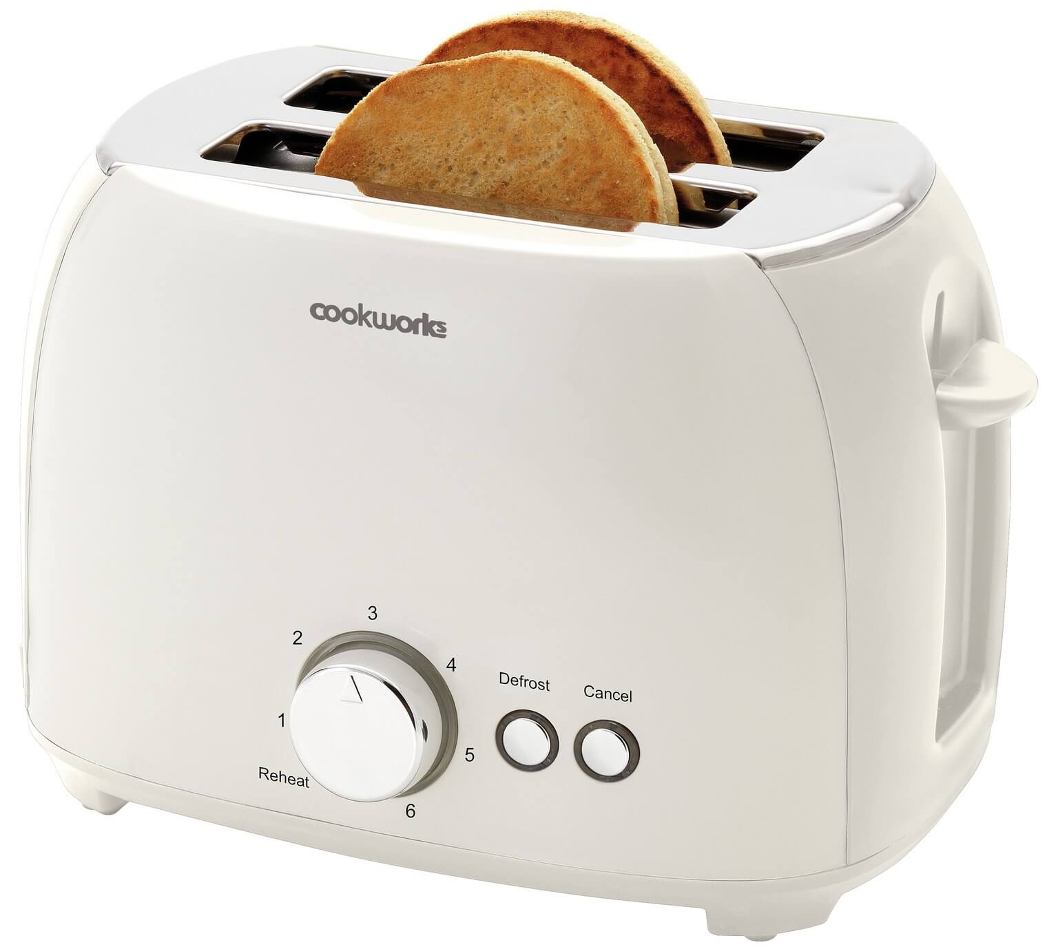 Cookworks 2 Slice Toaster – White