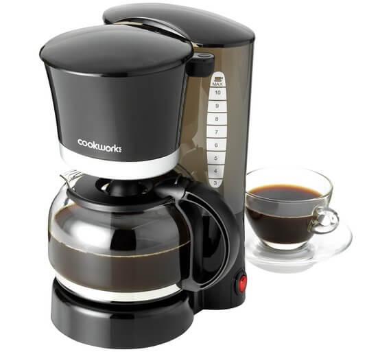 Cookworks Filter Coffee Maker – Black