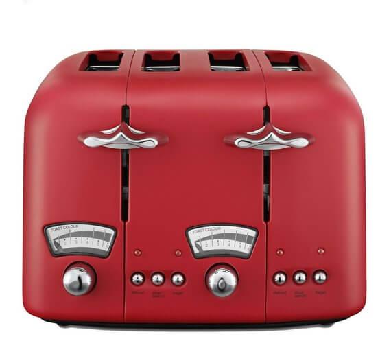 De'Longhi Argento 4 Slice Toaster – Red