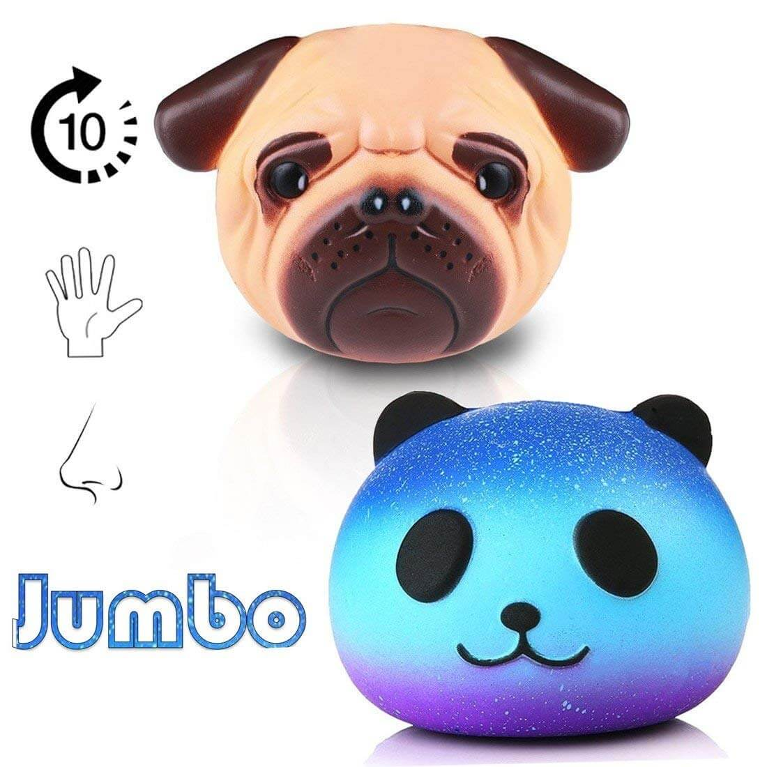 40% OFF: Pug Squishy Toy + Galaxy Panda Squeese Toys