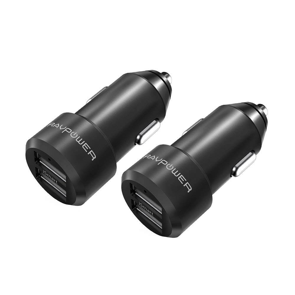 RAVPower 2-Pack 24W 4.8A Dual USB Car Charger