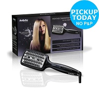 BaByliss Diamond Heated Smoothing and Straightening All Hair Types Brush – Black