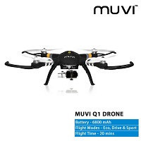 Certified Refurbished Veho Muvi Q-1 Drone with Follow Me Tracker, Advanced 3-Axis Gimbal – VQD-002-Q1