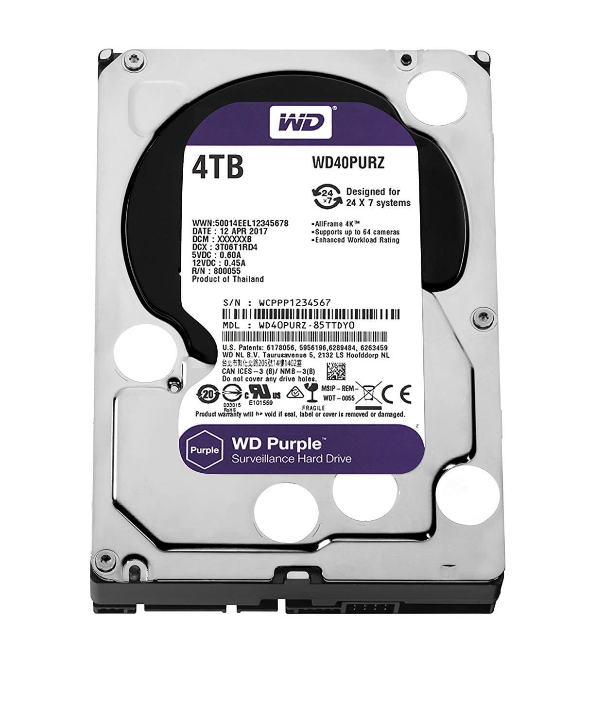 Western Digital Purple 4TB Surveillance Drive