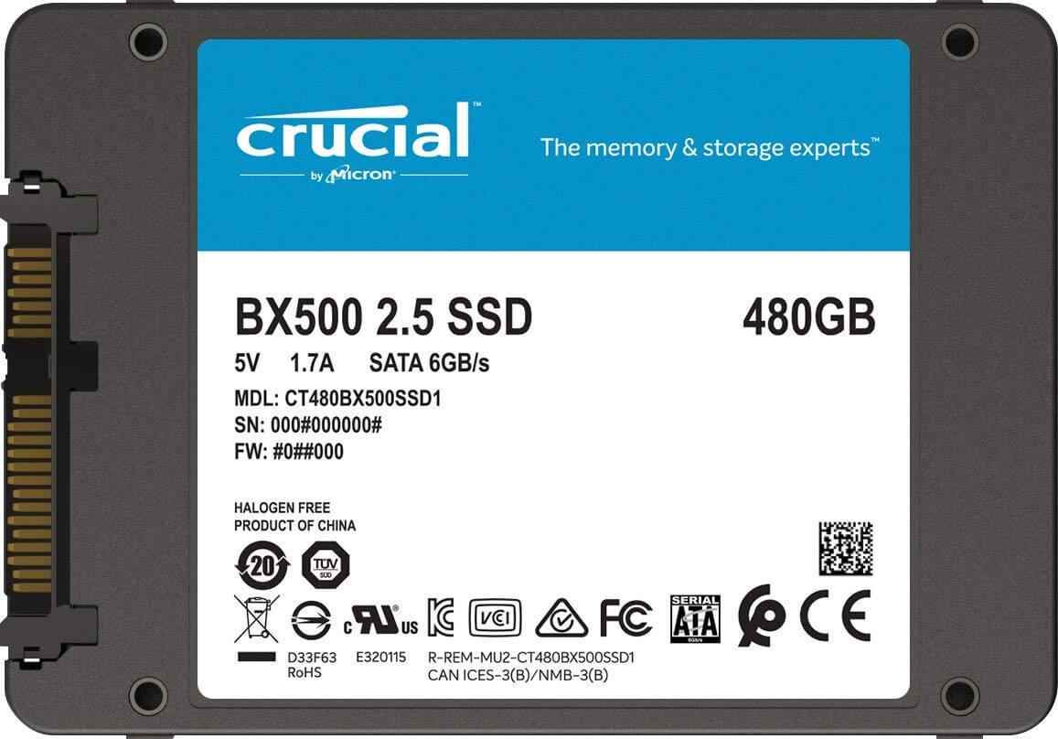 Crucial BX500 CT480BX500SSD1 480 GB Internal SSD
