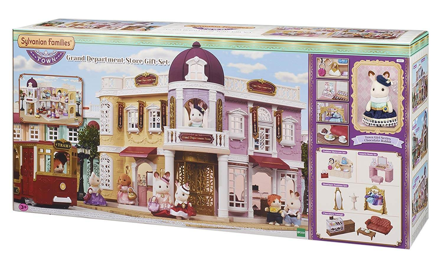 Sylvanian Families Grand Department Store Gift Playset, New Town Series