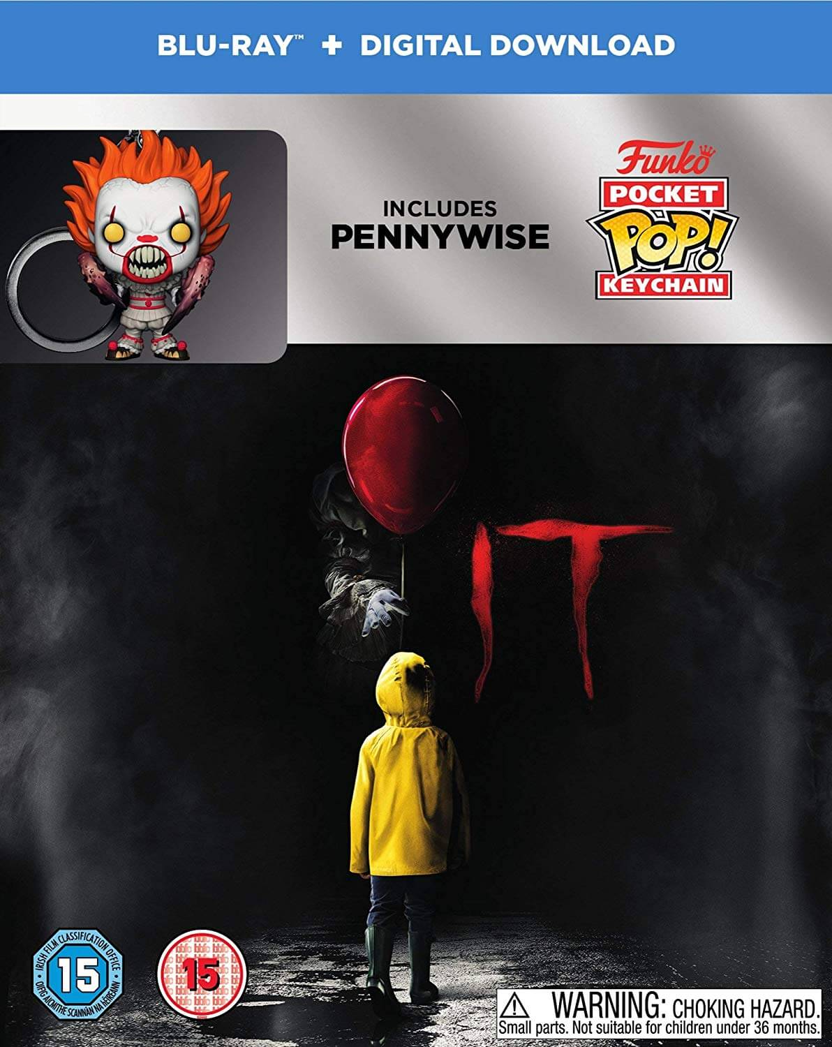 IT Collectors Edition Blu Ray with Funko Pop Pennywise Key Ring- Pre-Order