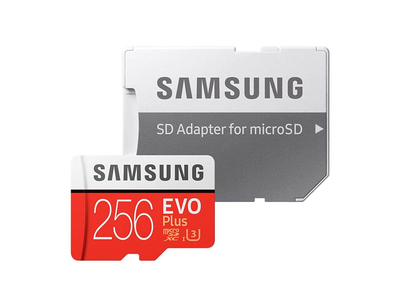 256GB Samsung EVO Plus U3 Micro SDXC Card + Adapter