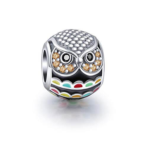 Owl Bead Lucky Authentic Bracelet BEAD Real 925 Sterling Silver + Gift