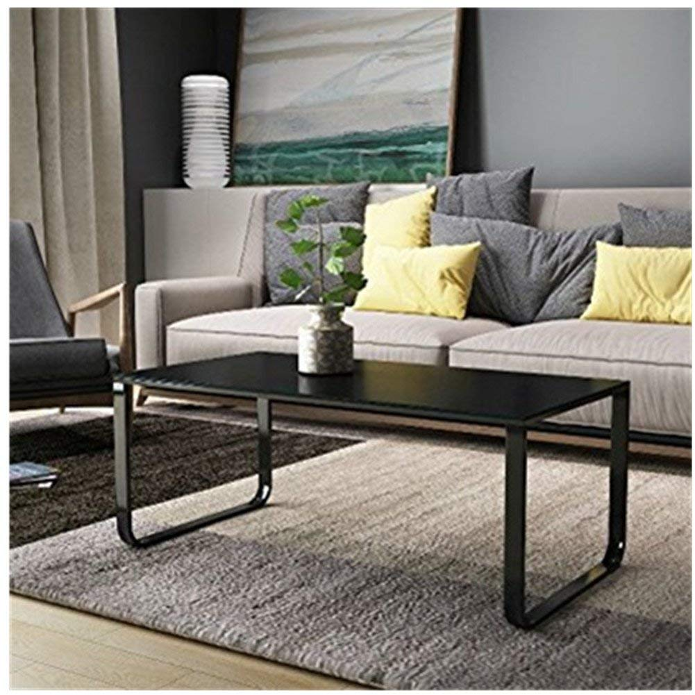 Modern Coffee Table End Side Table Glass Top