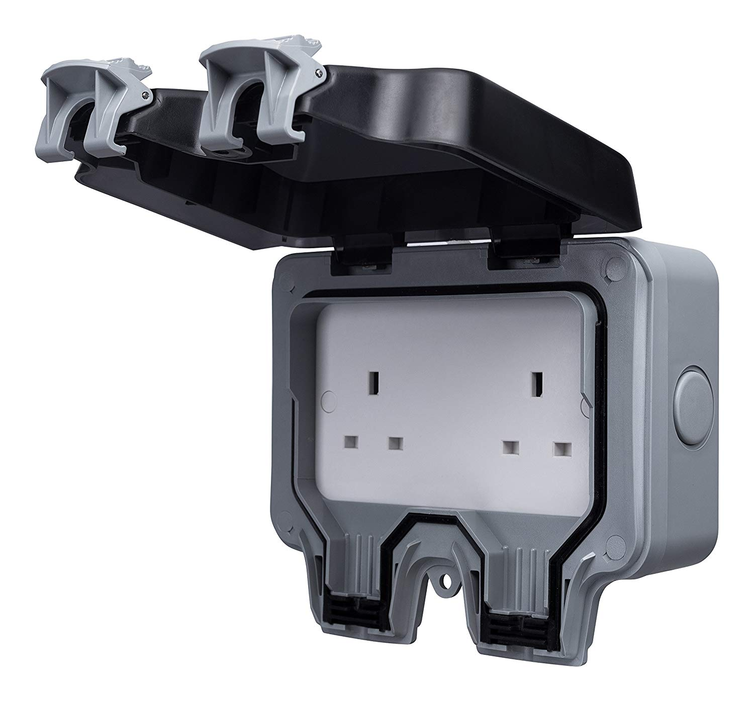 Masterplug WP24 13 A 2-Gang Storm Weatherproof Outdoor Un-Switched Socket