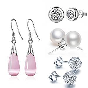 925 Silver Sterling Opal Studs Earrings for Women Jewellery