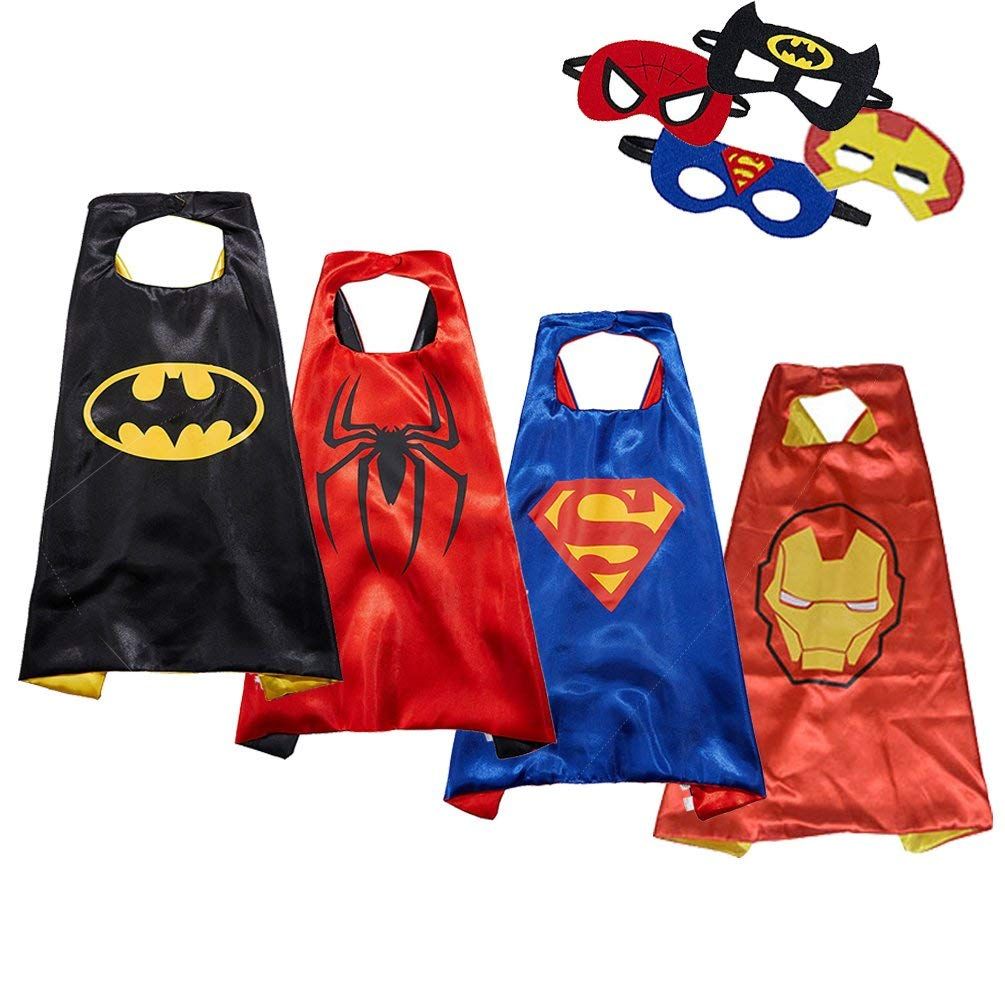Kids Superhero Capes and Masks Fancy Dress