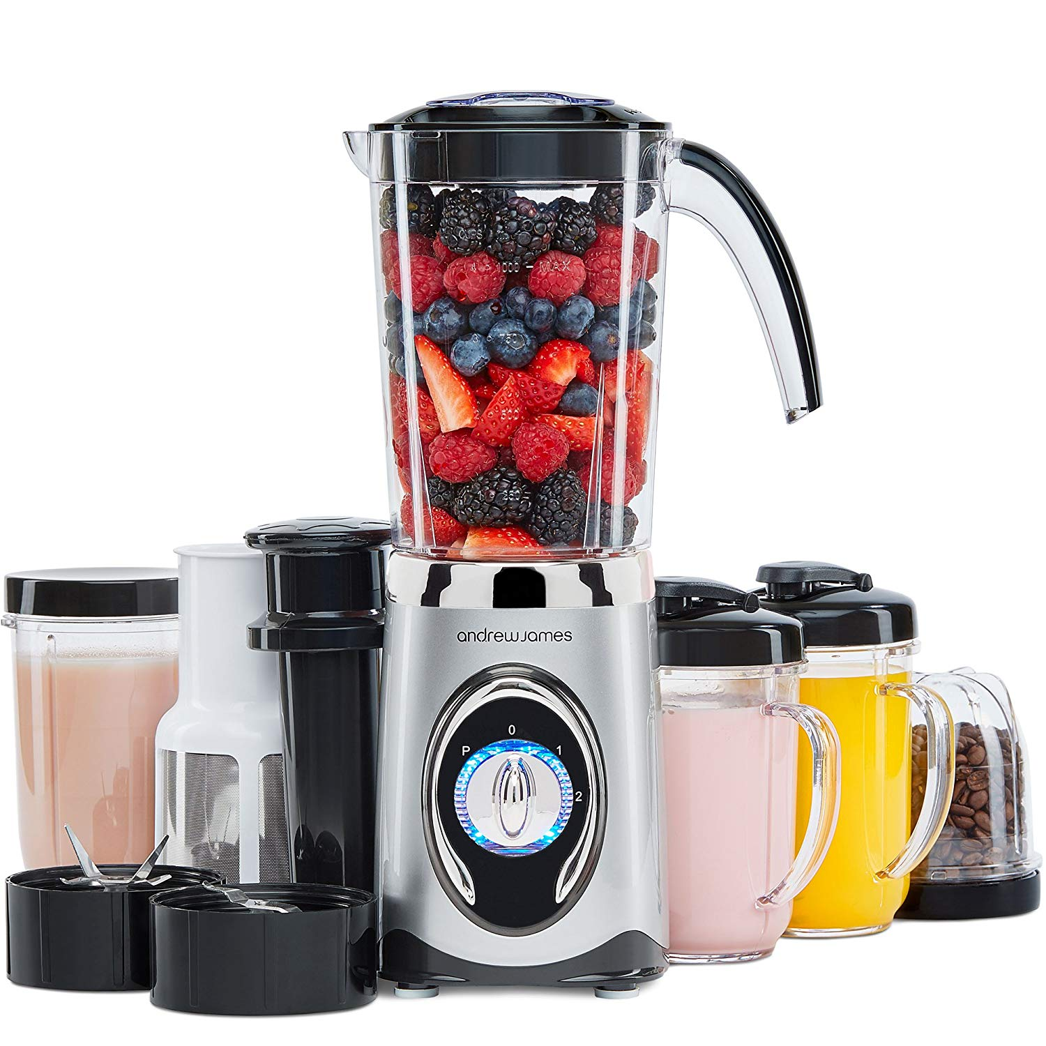 Andrew James Smoothie Maker | 4 in 1 Blender Machine with 1L Jug