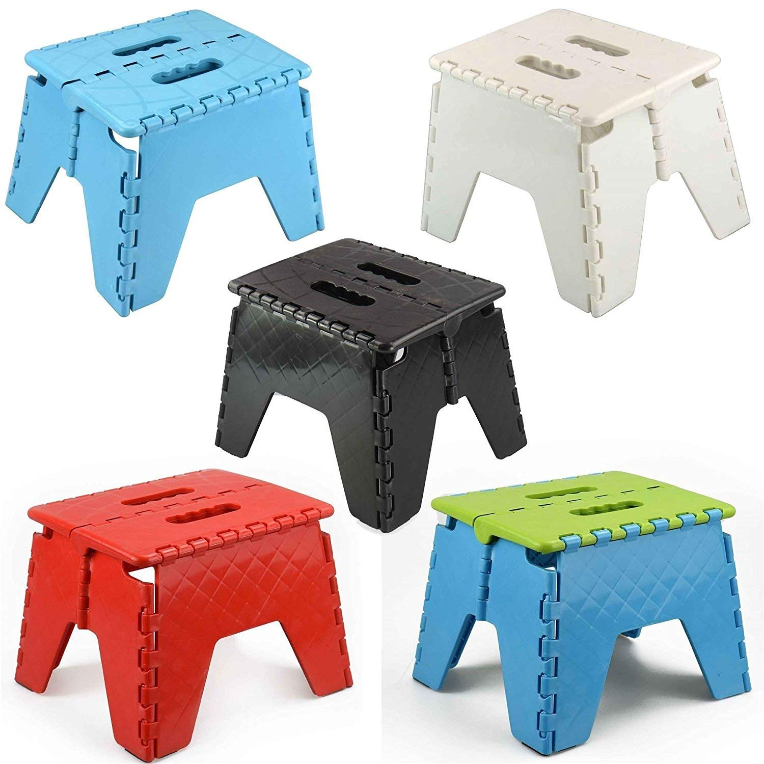 ASAB Small Folding Step Stool Plastic Multi Purpose