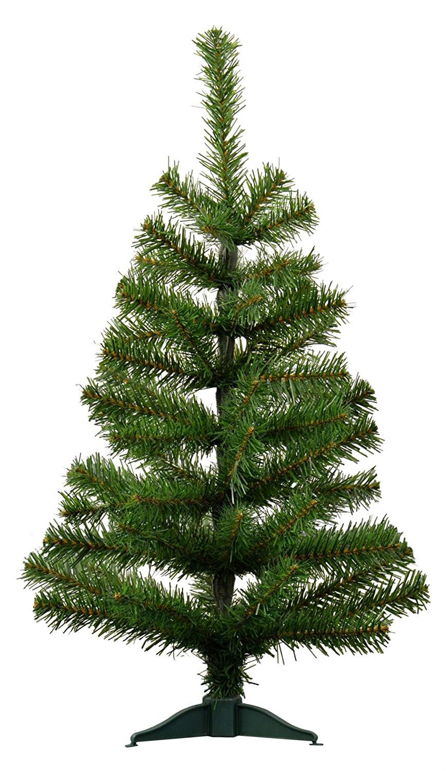 Harbour Housewares 2ft (60cm) Artificial Pine Christmas Tree with Stand