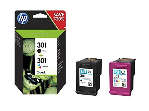HP N9J72AE 301 Original Ink Cartridge, Black and Tri-Colour (Pack of 2) for £20.09