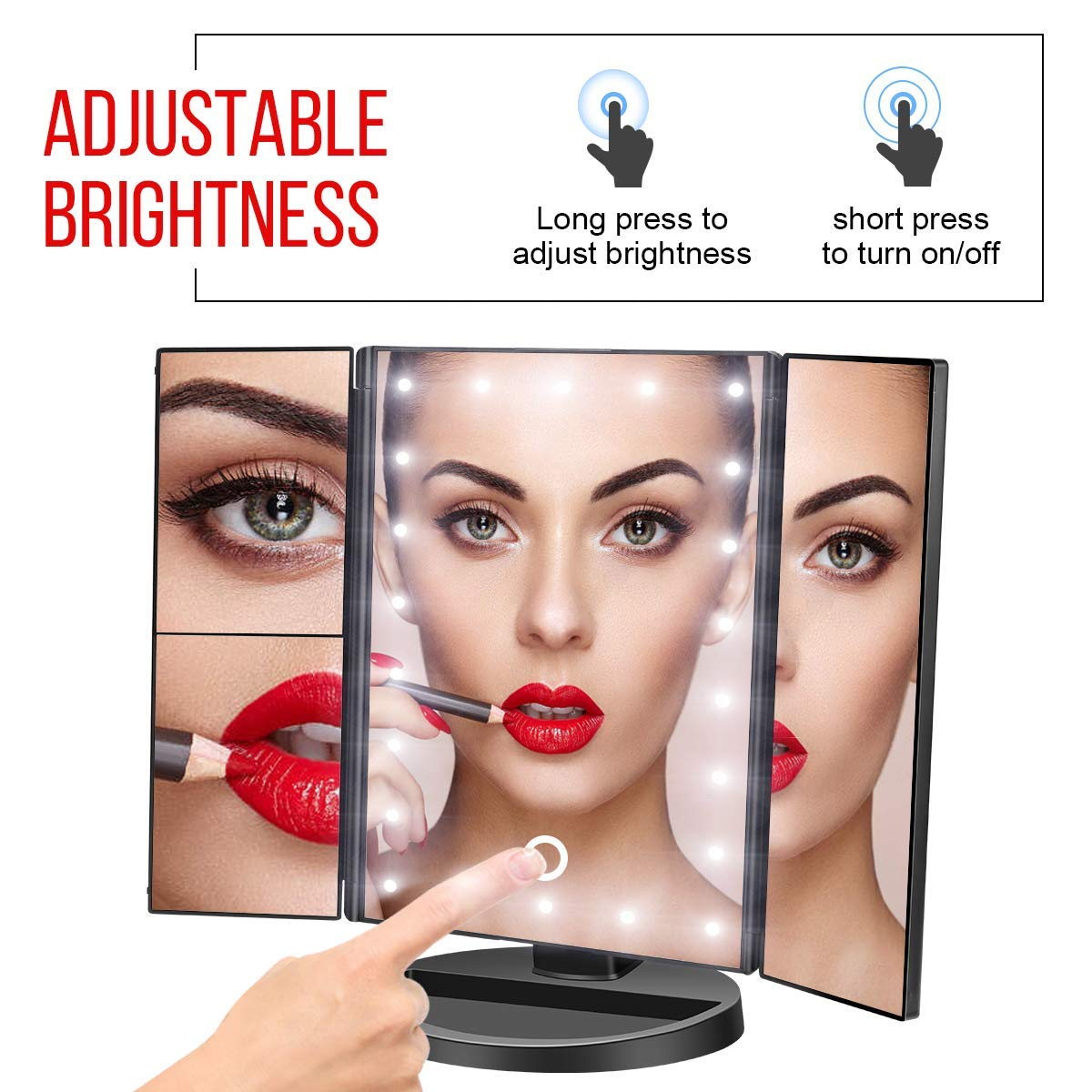 Govee Makeup Mirror with Lights Touch Screen Light Control