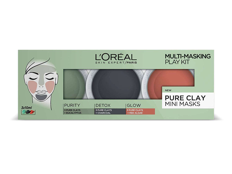 L'Oréal 3 Pure Clays Multi-Masking Face Mask Play Kit