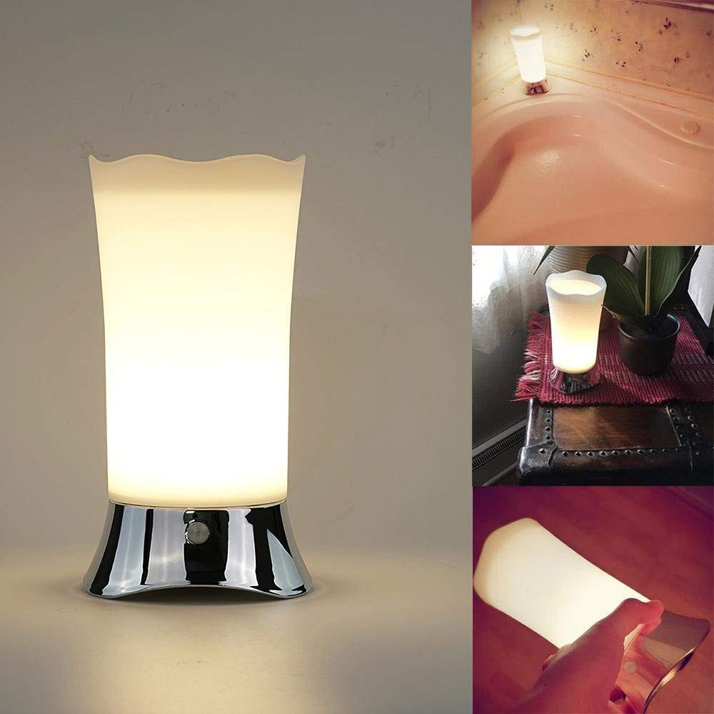 Motion-Sensor Table Lamp, 3 Switching Modes Battery Operated Free Delivery