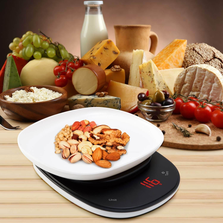 Digital Kitchen Scale,LeaderPro Ultra Slim Multifunction Food Weighing