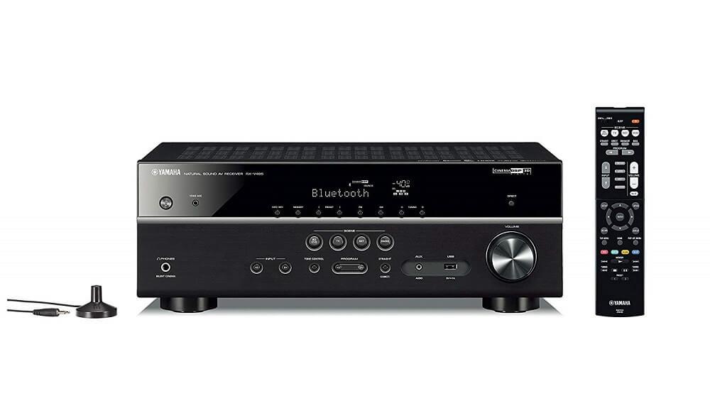 Yamaha RXV485 5.1-Channel MusicCast AV Receiver (Black) for £379.00