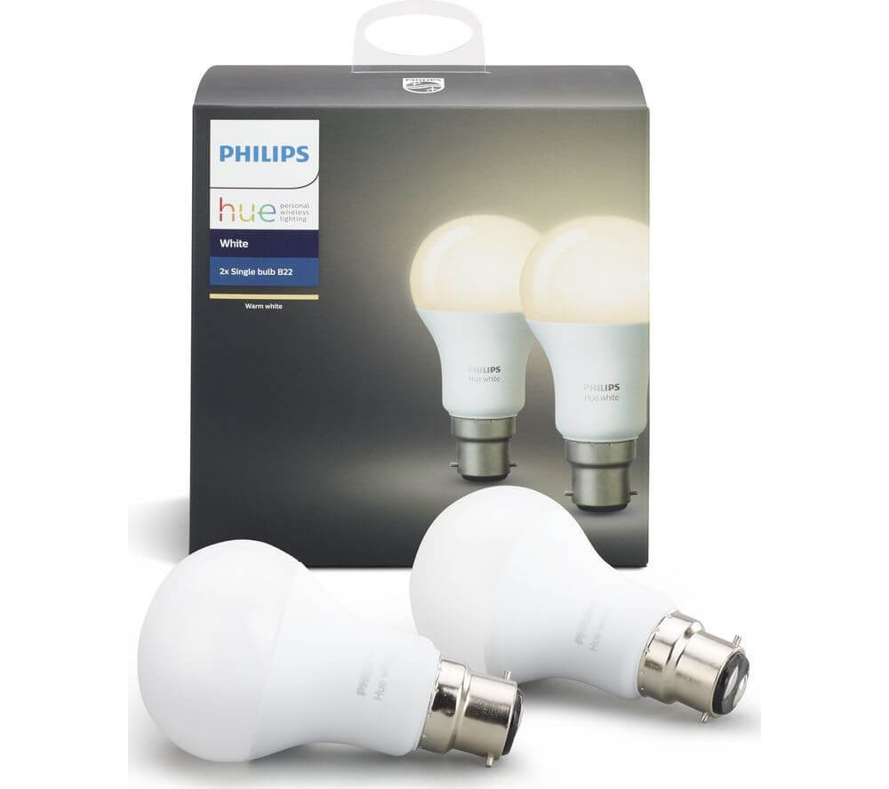 Phillips HUE B22 twin pack on £22.49