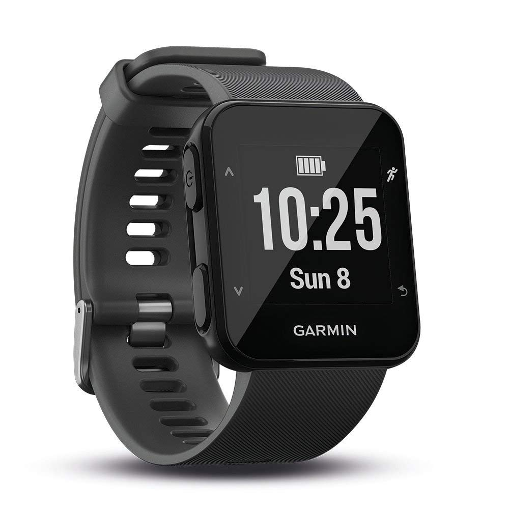 Garmin Forerunner 30 GPS Running Watch with Wrist Heart Rate, Black (Slate) for  £93.99