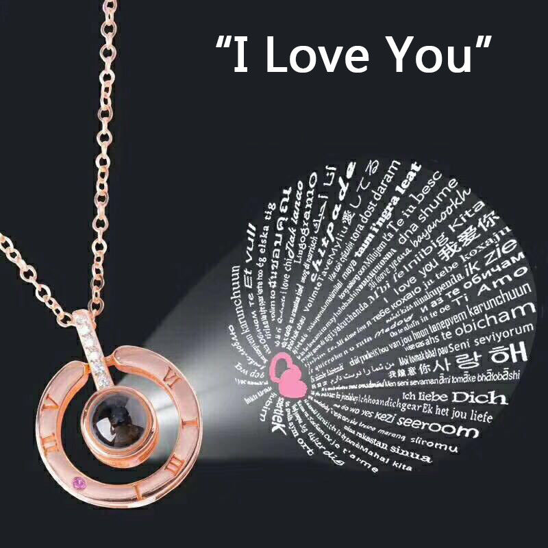 I Love You Necklace Says I Love in 100 Different Languages
