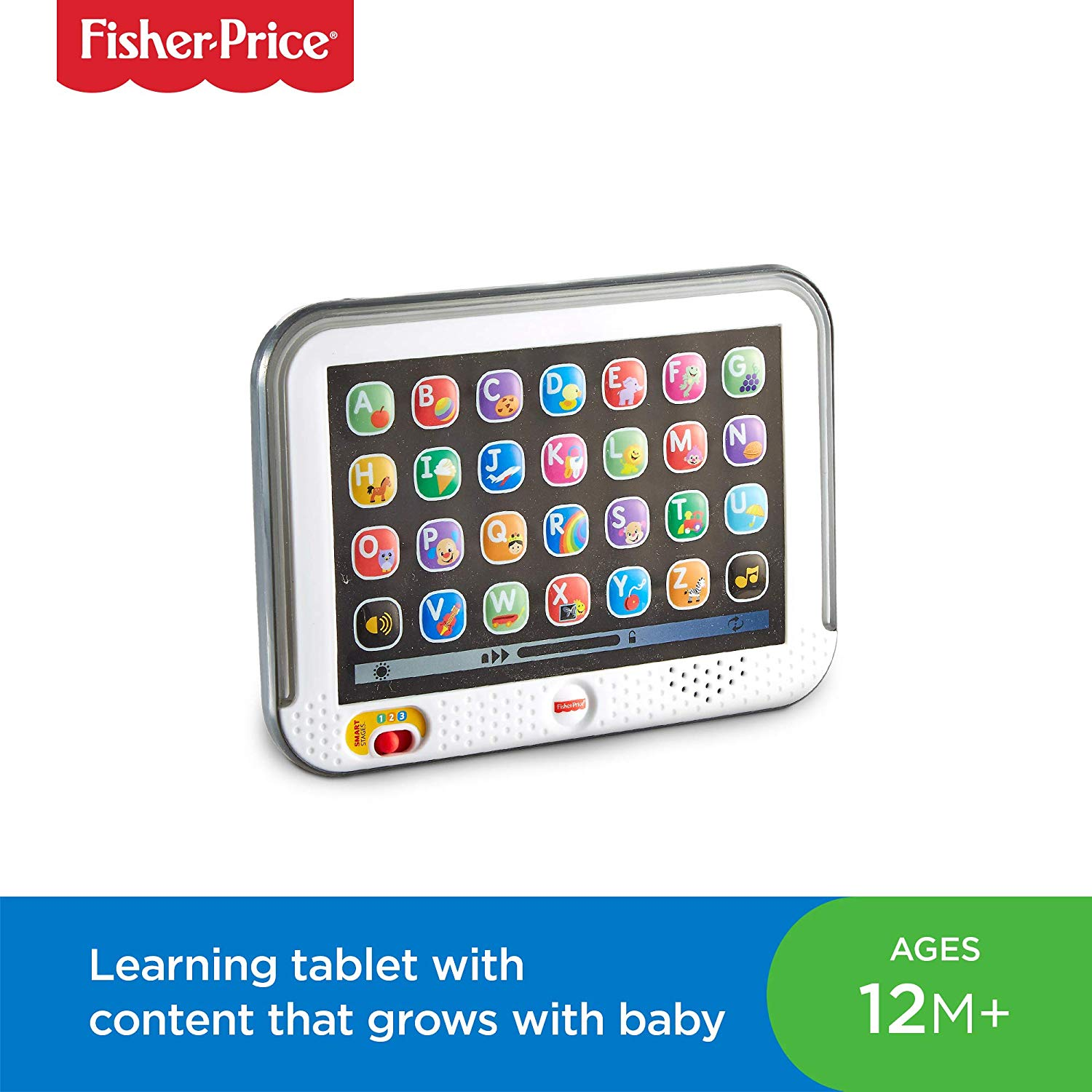 Fisher-Price CDG33 Smart Stages Tablet, Laugh and Learn Baby Electronic