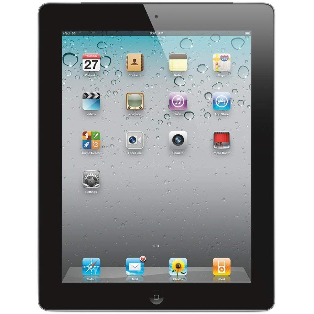 Certified Refurbished Apple iPad 2 Wi-Fi Black 16 GB Tablet 9.7 inch MC769LL/A