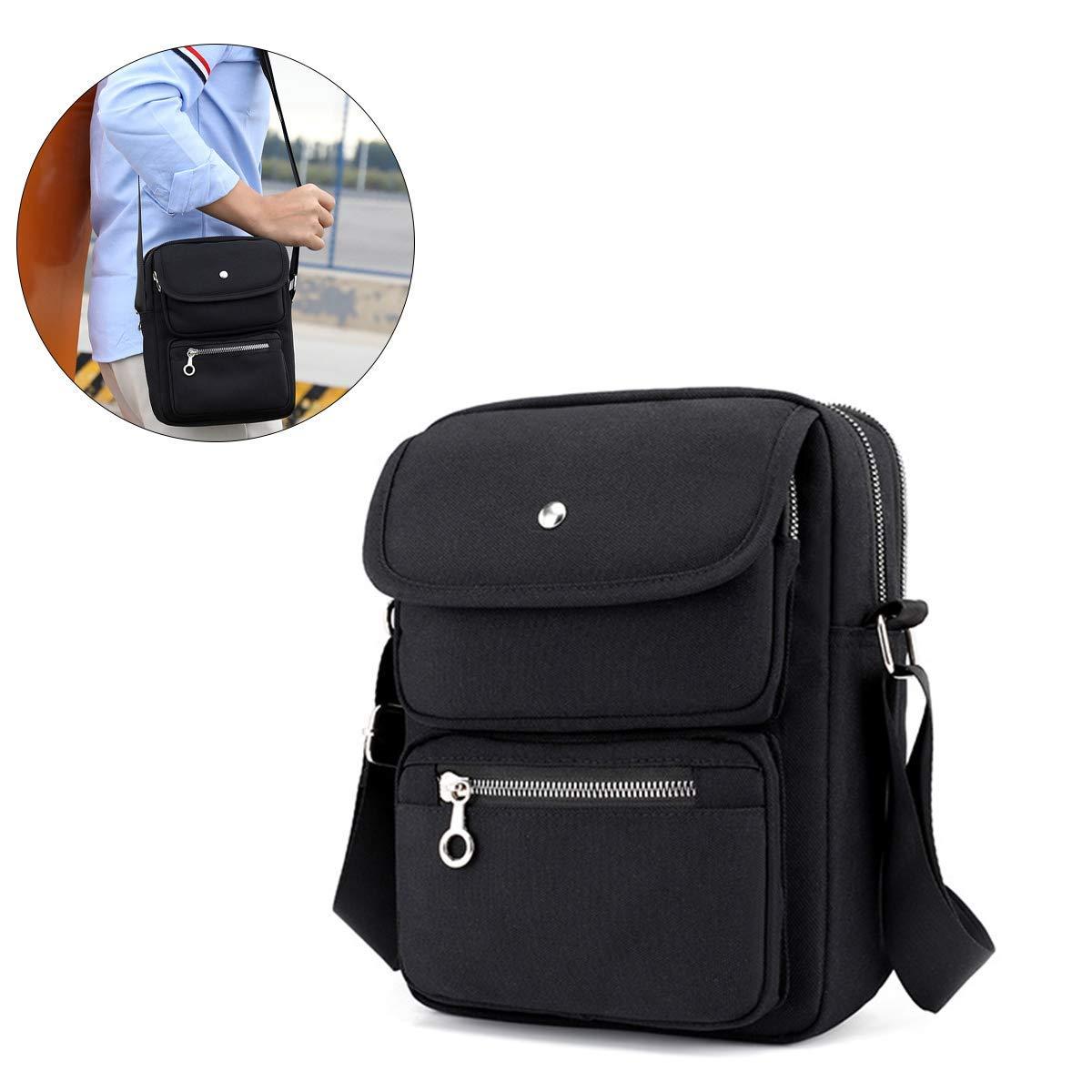 JOSEKO Multi-Pocketed Nylon Shoulder Bag