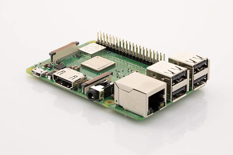 Raspberry Pi 3 Model B+ 64-Bit Quad Core Processor (Green) for £35.00