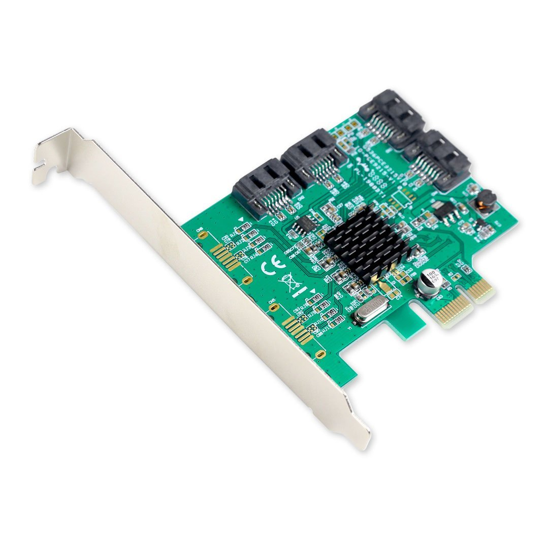 Syba SI-PEX40064 SATA III 4 Port PCI-e x1 Controller Card for £22.34