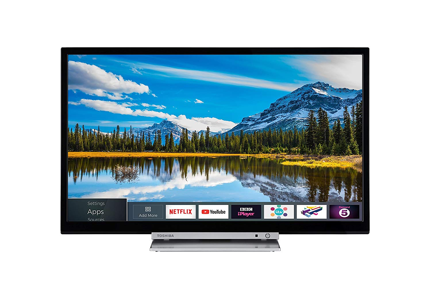 Toshiba 24D3863DB 24-Inch HD Ready Smart TV with Built In DVD Player for £149.00