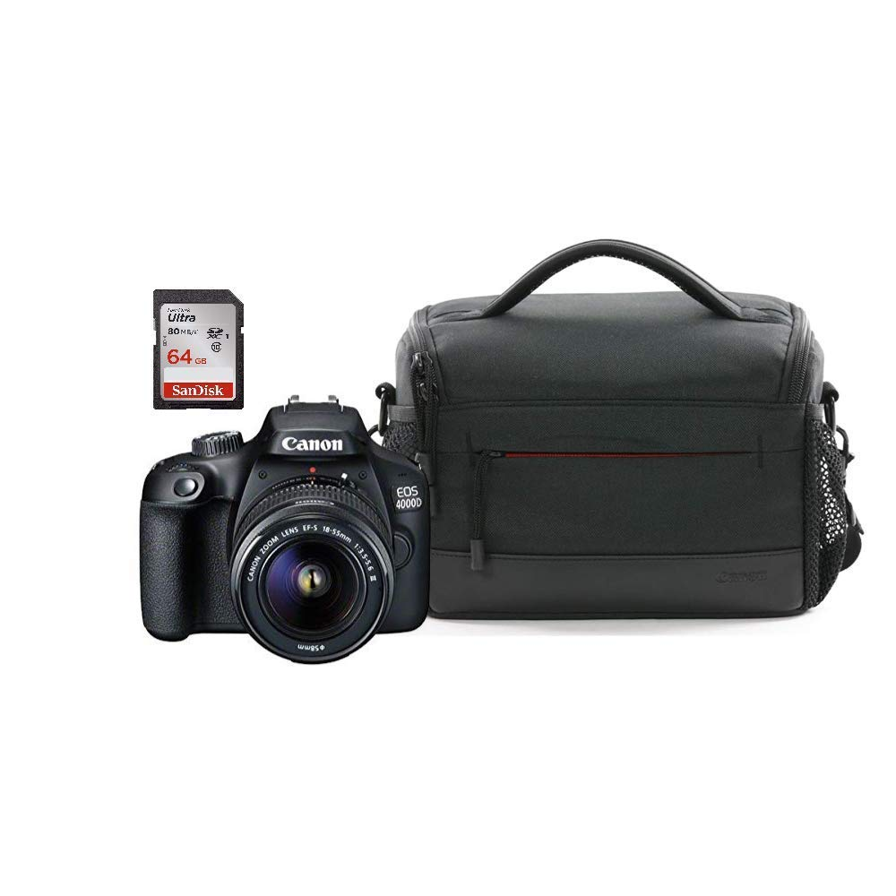 BLACK FRIDAY DEAL Canon EOS 4000D DSLR Camera EF-S 18-55 Mm f/3.5-5.6 III Bundle for £249.00