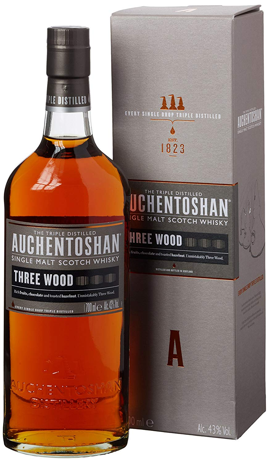 Auchentoshan Three Wood Single Malt Scotch Whisky, 70 Cl for £27.50