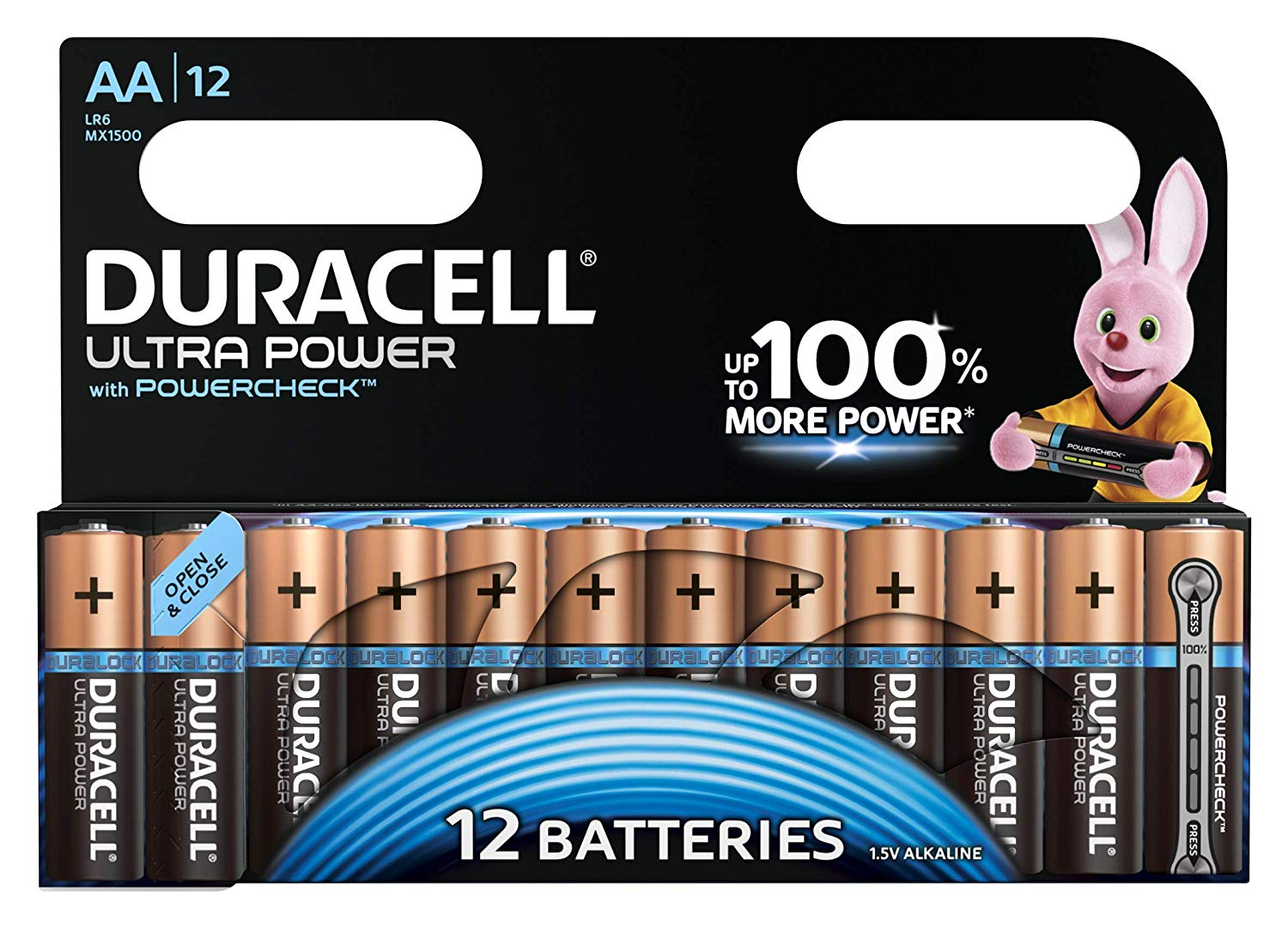 Duracell Ultra Power Type AA Alkaline Batteries (Pack of 12) for  	£8.68