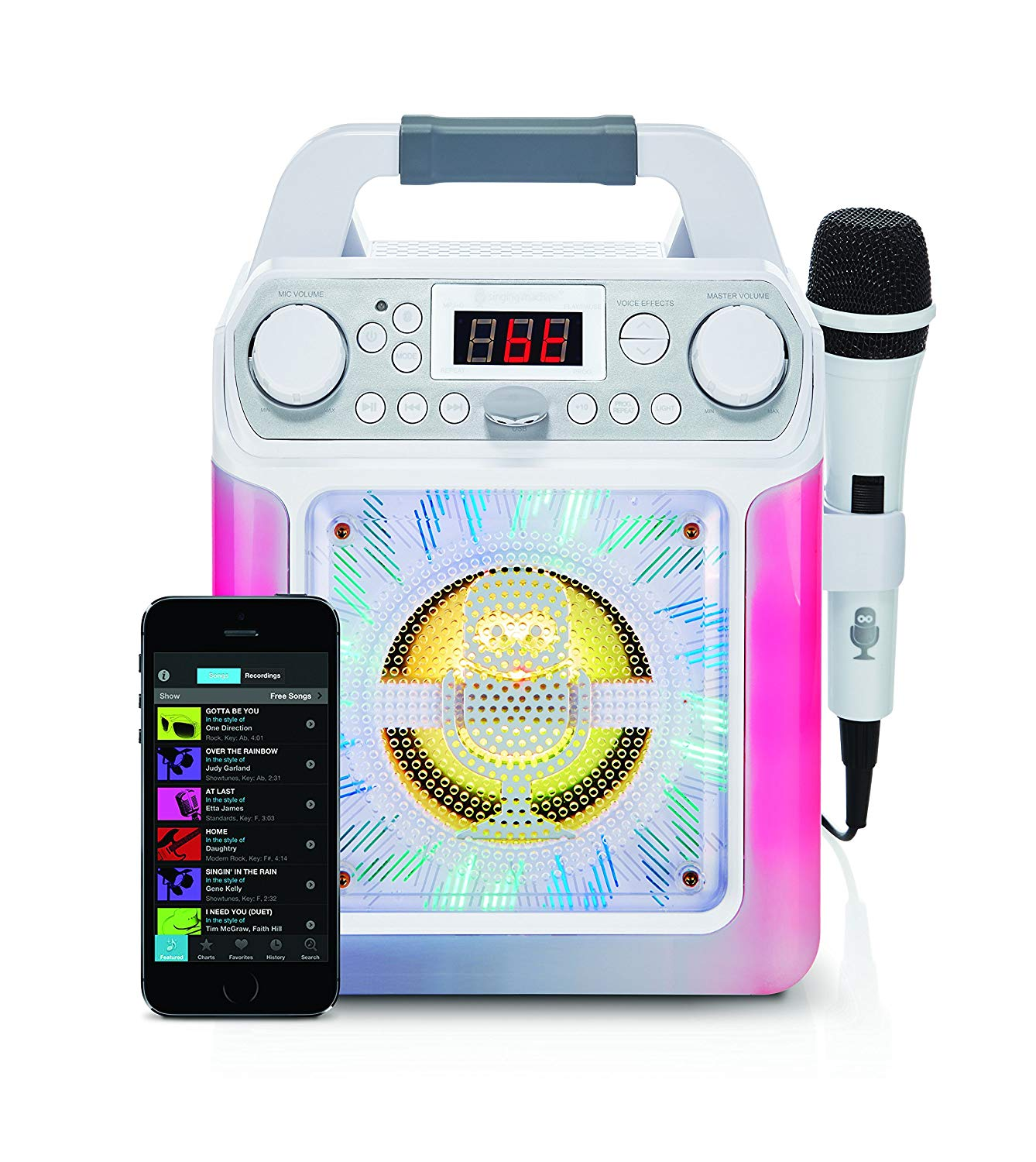 Bluetooth Karaoke Machine with Voice Changer and LED Lights £37.99