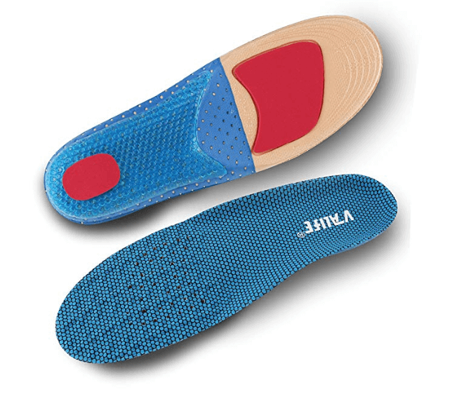 Poron Sports Insoles,Size UK(4-9.5)