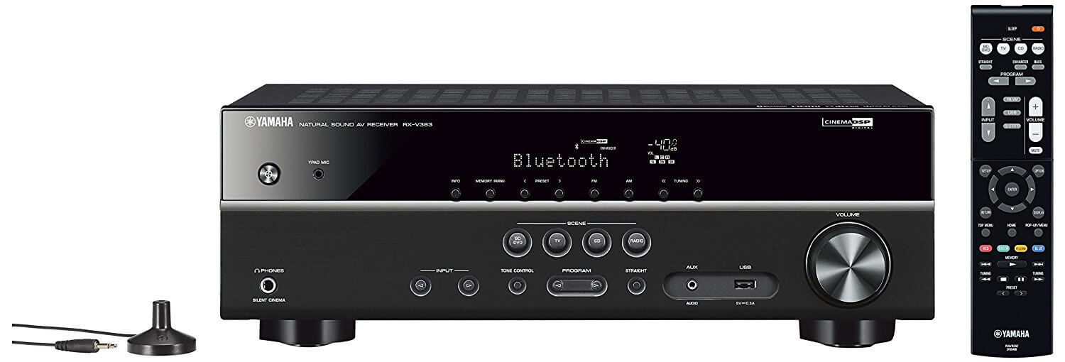 Yamaha RXV383 5 Channel AV Receiver  (Black) for £249.00