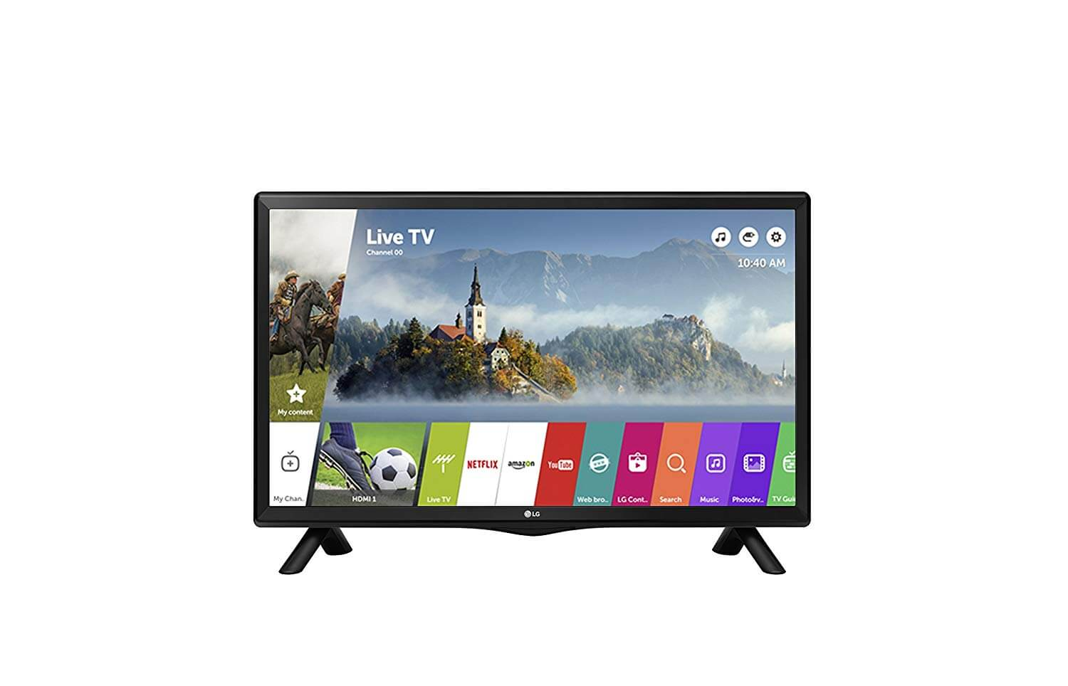 LG 28TK420S-PZ 720p HD Ready 28 inch Smart TV (2018 Model) (Black Glossy) for £199.95