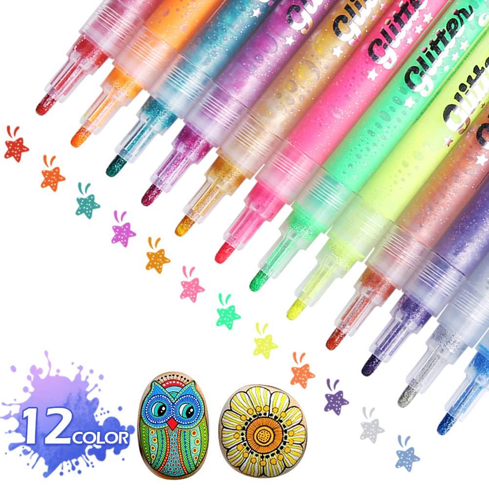 12 Colors Acrylic Paint Pens Paint Marker Pens
