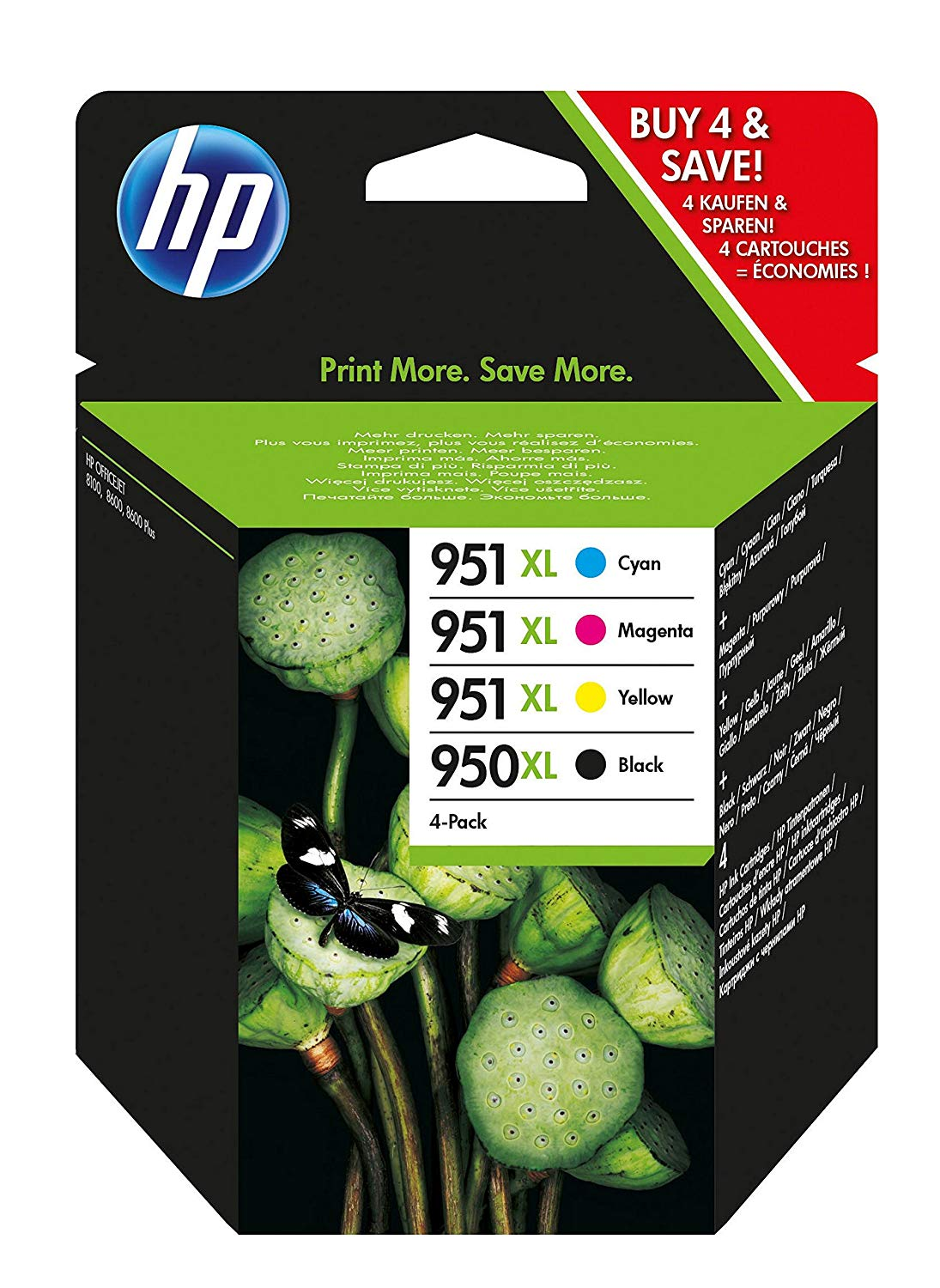 HP C2P43AE 950XL/951XL Original Ink Cartridges