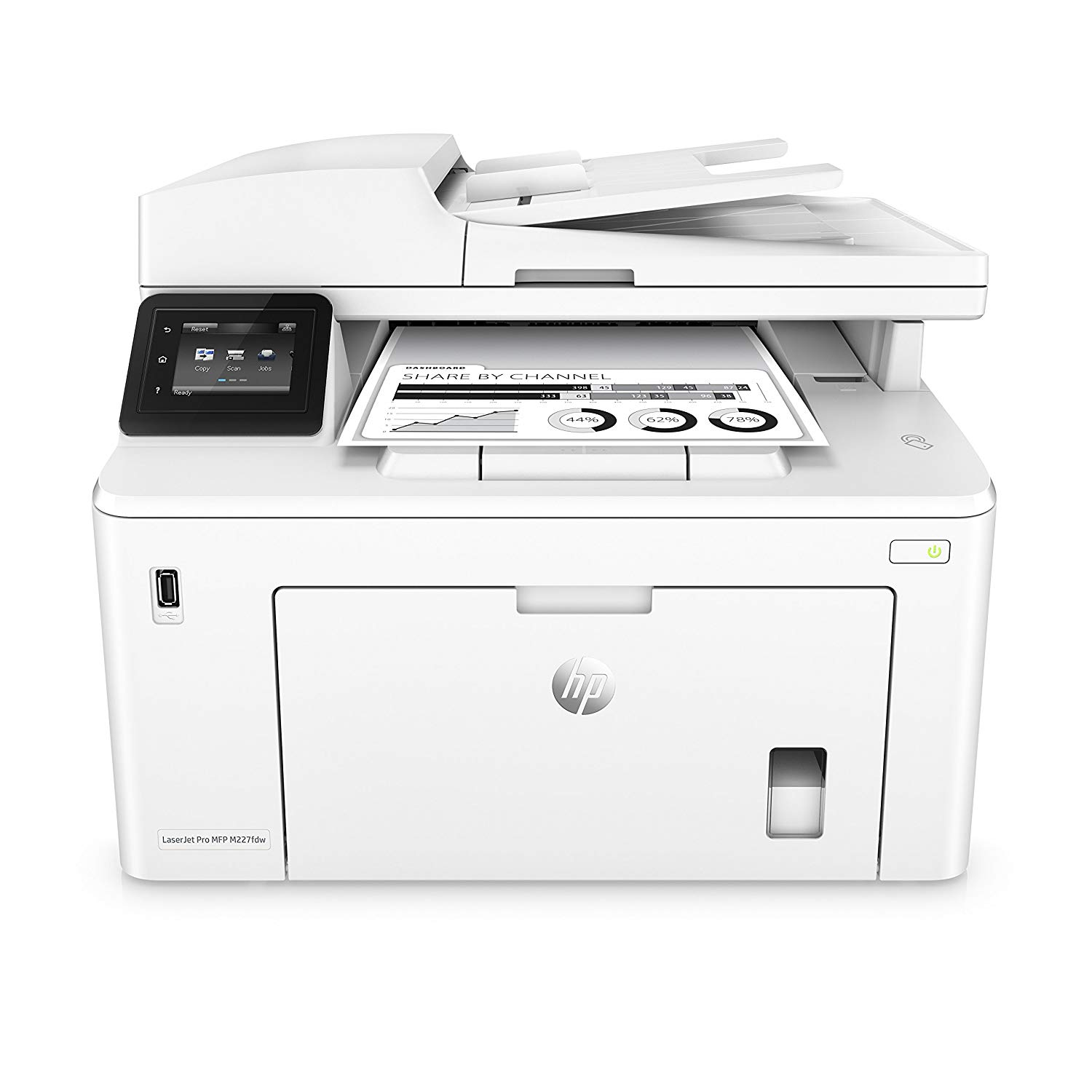 HP LaserJet Pro M227fdw Multi-Function Printer, White