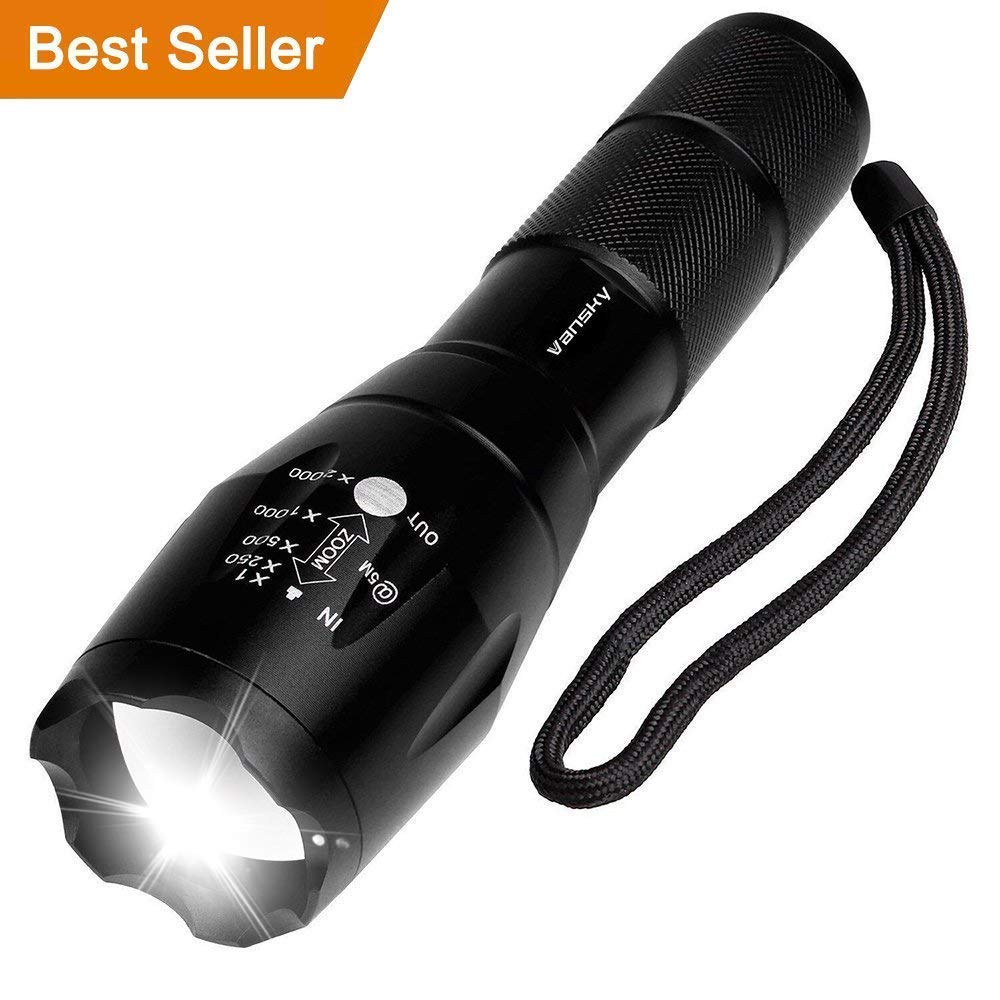 Vansky Pocket Torch Cree XMLT6 Adjustable Focus Tactical Flashlight