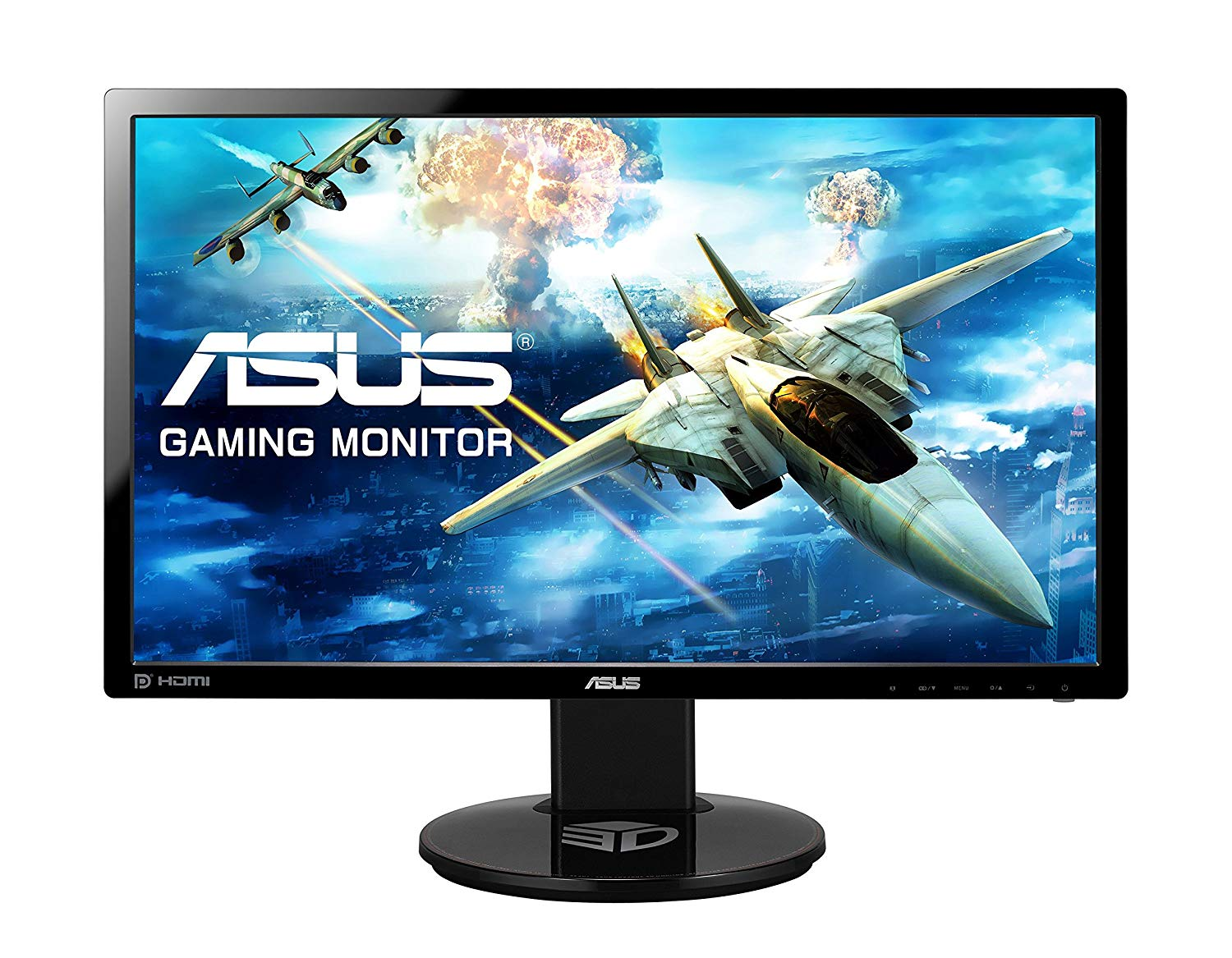 ASUS VG248QE 24 inch Widescreen LED Multimedia 3D Monitor – Black
