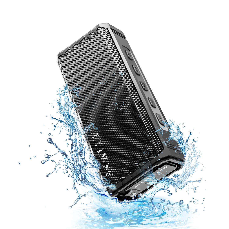 Bluetooth Speaker,LTTWSF IPX7 Waterproof Outdoor Speaker Portable Wireless Speaker with Hi-Fi Sound Bass for 24-Hour Playtime